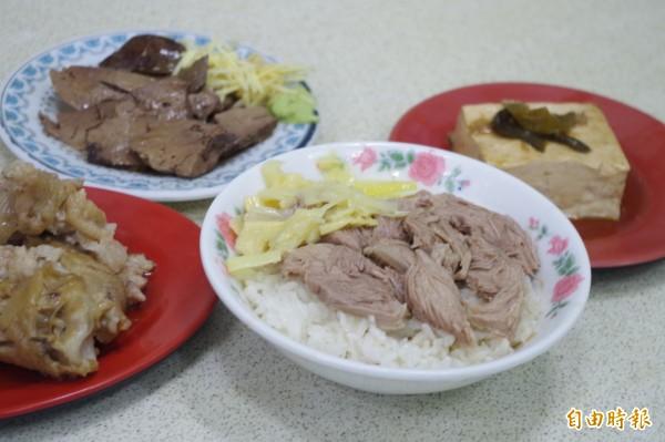 呆獅雞肉飯另有雞肉片飯,是不少熟客才知道的隱藏菜單。(記者王善嬿攝)