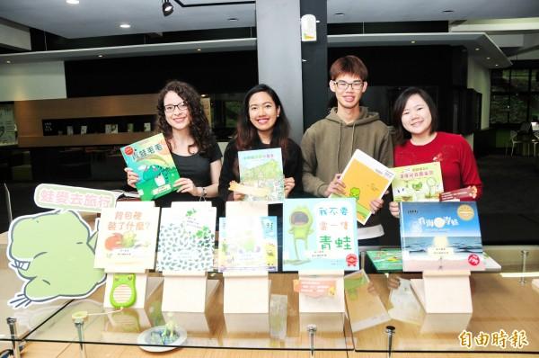 靜宜大學「蓋夏圖書館」與網路書店合辦全國首創的「春日旅蛙閱讀趣」書展。(記者張軒哲攝)