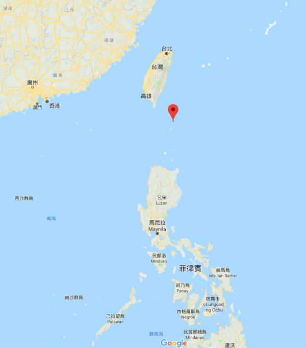 菲律賓軍方宣布,下月起在雅米島(Mavulis)興建海事基地,打擊盜魚問題。雅米島離蘭嶼僅98公里,菲方此舉,恐影響我國漁權。(圖片截取自Google Map)