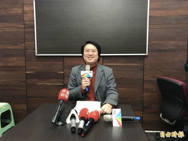 林右昌認為,謝立功率眾衝撞市長室的真正目的不是關心環境,而是在搞政治、搞選舉。(記者林欣漢攝)
