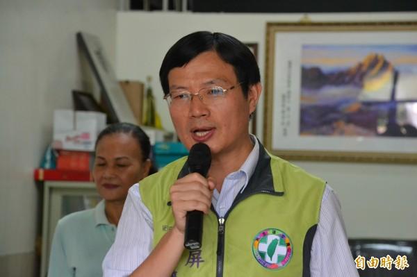 李清聖將代表民進黨角逐屏東市長。(記者侯承旭攝)