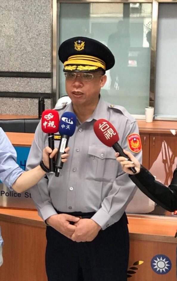 台北市大同警分局寧夏路派出所長高永限說明。(警方提供)