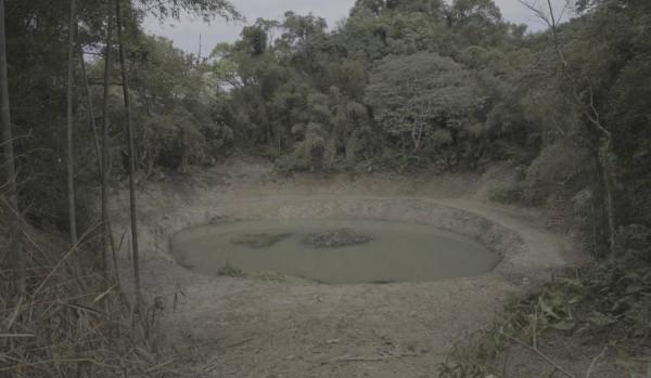 三峽山區大豹社領地內的水池遺跡。(讀者提供)