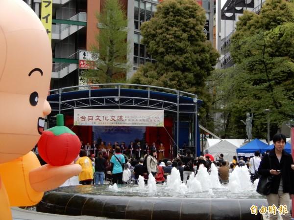 國際佛光山東京分會等單位7日在池袋舉辦的第7屆「台日文化交流支援日本東北、熊本大地震重建」公益園遊會。(記者林翠儀攝)