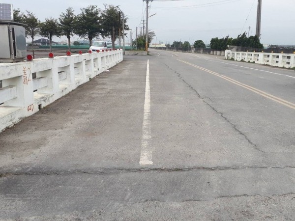二崙鄉裕民一號橋明天至年底封閉改建,請民眾及早改道。(圖由縣府提供)
