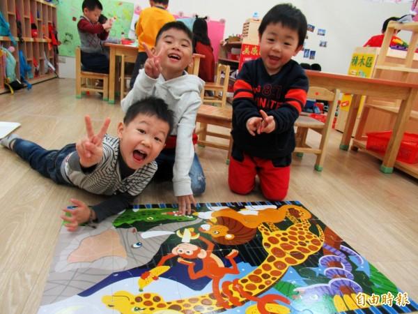 桃園市公立幼兒園及非營利幼兒園,5月9日起受理報名,今年共增加50班、1459個名額;圖為大有非營利幼兒園。(記者陳昀攝)