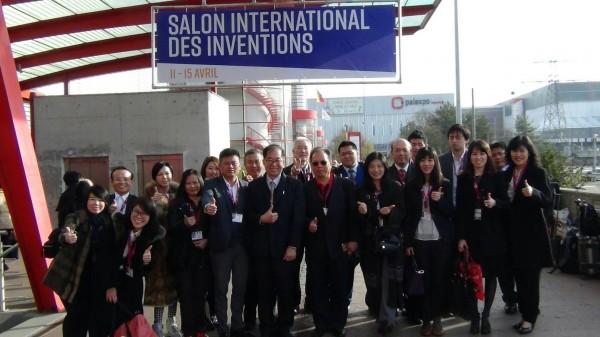 2018瑞士日內瓦發明展台灣參展團合影。(台灣發明協會提供)