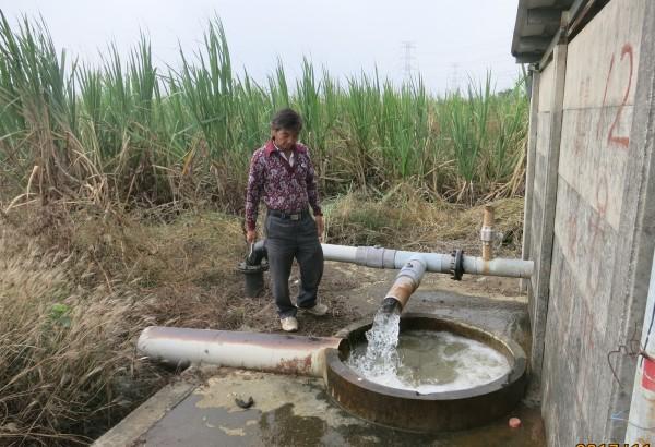 台南的台糖抗旱井。(記者楊金城翻攝)