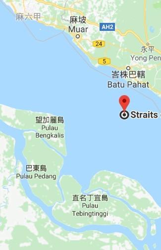 大鮪13號遭扣的船停泊在直名丁宜島(音譯)的港口。(擷自google map)