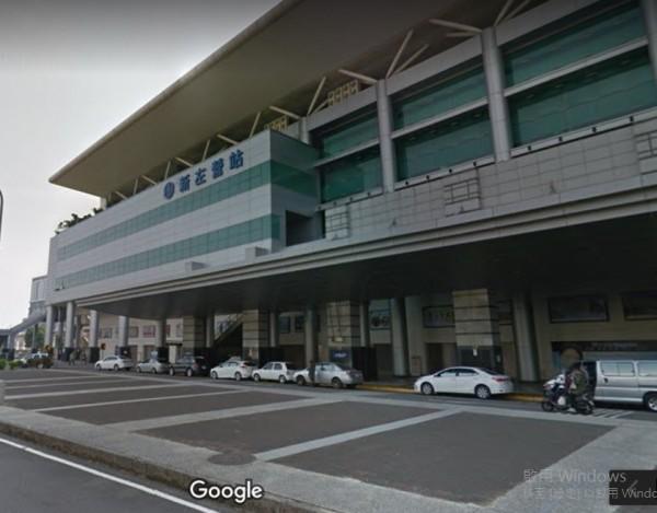 台鐵新左營站地址為「站前北路1號」。(取自Google地圖)