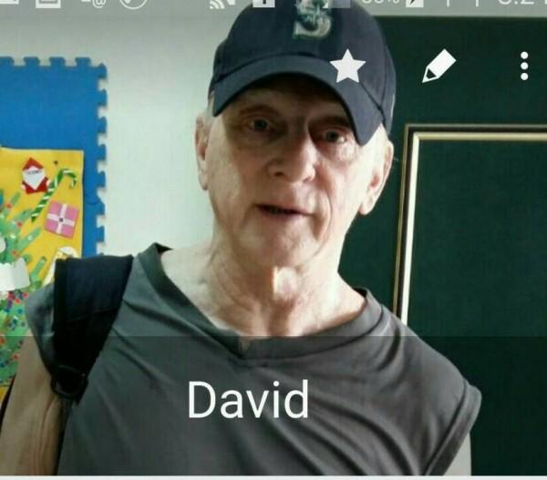 David的友人說,David是一個相當低調的人,不喜歡拍照,唯一留下來的照片是手機通訊裡的影像。(友人提供)