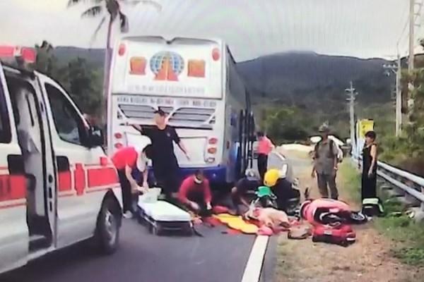 日前發生的中客電動車死亡車禍意外。(記者蔡宗憲翻攝)