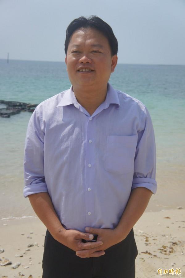 民進黨澎湖縣黨部主委黃健忠,獲得提名代表綠營角逐馬公市長寶座。(記者劉禹慶攝)
