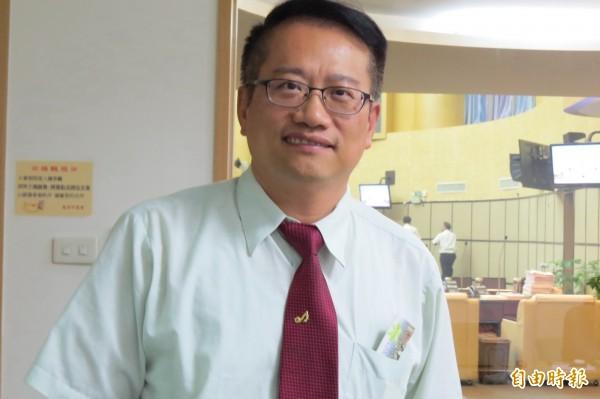 台南市民進黨議員蔡旺詮說,台北市長選舉這一局,代表的不是只有台北市長選舉,而是捍衛台灣價值。(資料照,記者蔡文居攝)