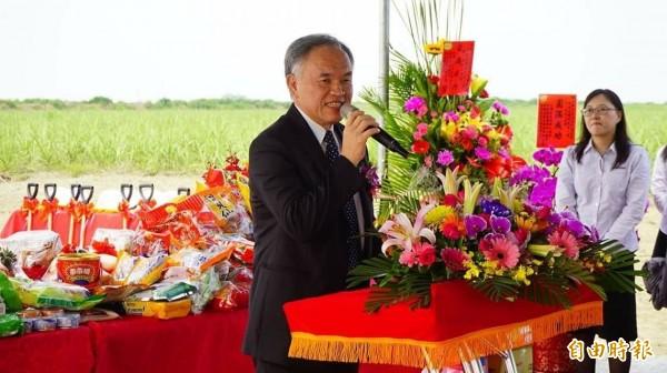 台糖公司總經理管道一強調台糖是台灣有機農業的領頭羊。(記者廖淑玲攝)
