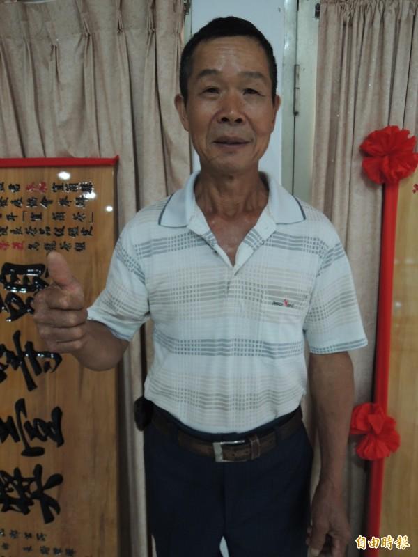 烏龍茶組特等獎得主林光益,已是第4度獲此殊榮。(記者江志雄攝)