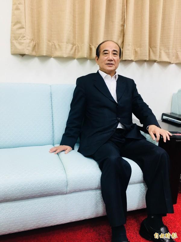 前立法院長王金平對於馬被判4個月,只回說「尊重司法」。(記者邱燕玲攝)