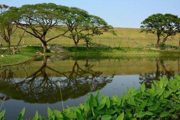 阿公店森林公園景致優美。(記者葛祐豪翻攝)