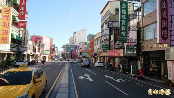 台南捷運綠線規劃路線擬改經西門路。(記者洪瑞琴攝)