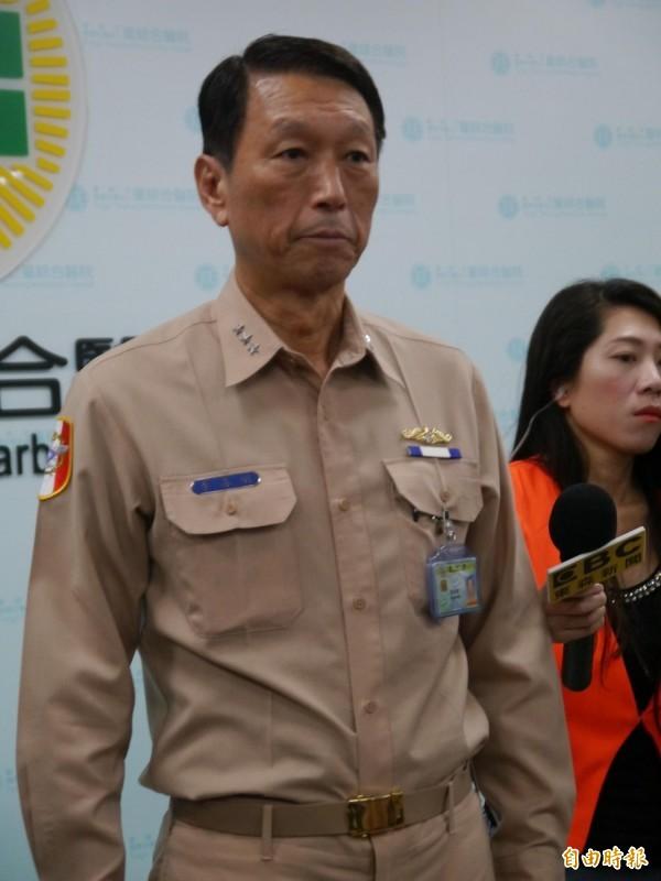 參謀總長李喜明說明秦姓士情況。(記者張軒哲攝)