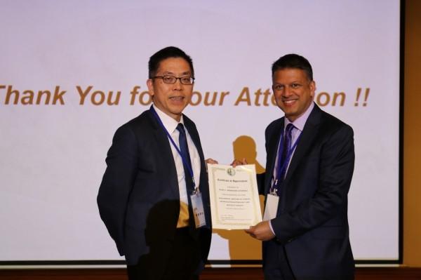 台灣胃腸神經與蠕動學會年會今年選在在花蓮慈濟醫院舉行,邀請國際胃食道逆流症專家Prakash Gyawali(右一)教授分享。(花蓮慈濟醫院提供)