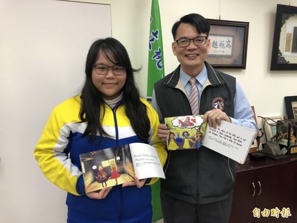 桃園高中校長林煥周(右)將接任武陵高中校長。(記者陳昀攝)
