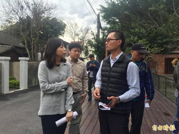 立委洪慈庸成功爭取中央補助兩千多萬元建置「甲后線自行車道」。(記者歐素美攝)