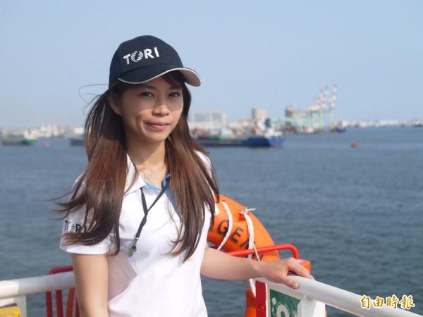 台灣最大的海研船勵進三管輪黃淑毅。(記者簡惠茹攝)
