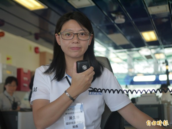 台灣海研船中第一位女船長黃久倖。(記者簡惠茹攝)