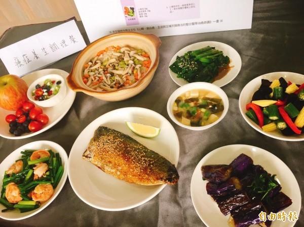 營養師表示,癌患可大量攝取多元多色蔬果,以及優質蛋白質等。(記者林惠琴攝)