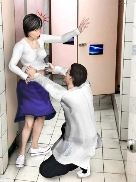 知名婦產科醫師謝俊雄蹲在廁所檢查女病患,二審改判無罪。(示意圖)