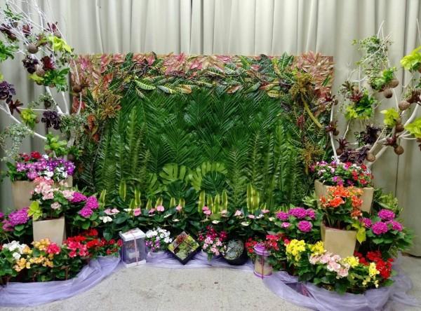 台北花市舉辦的花卉畢業展。(台北花市提供)