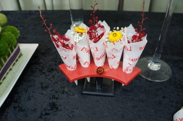 花卉做的壽司手捲。(台北花市提供)