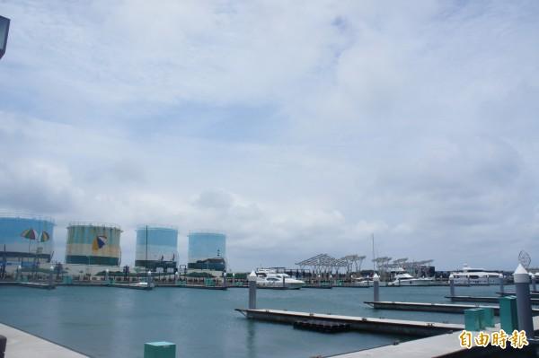 亞果遊艇集團亞澎公司,免費提供參賽遊艇船泊席位。(記者劉禹慶攝)