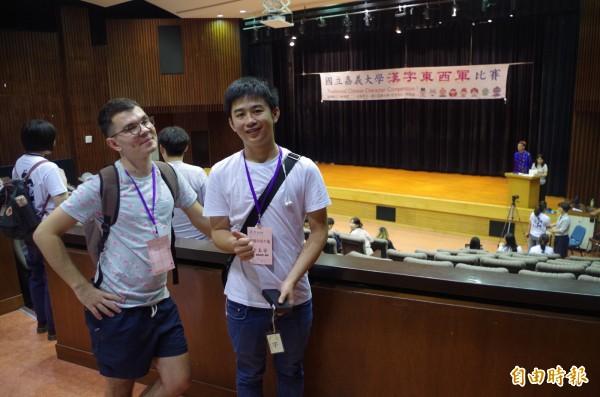 俄羅斯研究生及越南大學生也參加比賽。(記者王善嬿攝)