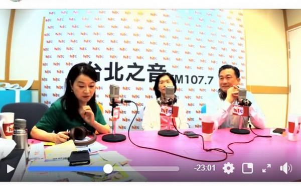 王定宇今天在廣播節目《蔻蔻早餐》的「私聊時間」,大爆民進黨南市黨內不團結傳聞。(記者蔡文居翻攝)