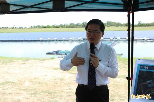 台南市代理市長李孟諺今前往視察。(記者萬于甄攝)