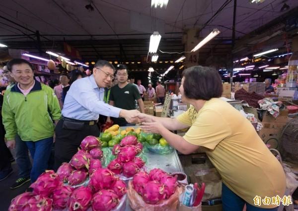 台北市長柯文哲今天於臉書發文,表達對吳音寧的肯定。(記者黃建豪攝)