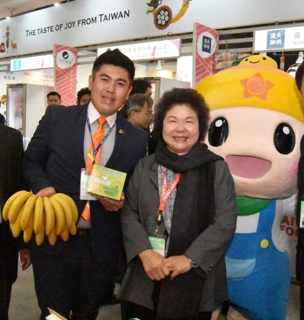 市府農業局與高雄型農郭泰呈合作,開發香蕉加工抗性澱粉。(記者陳文嬋翻攝)