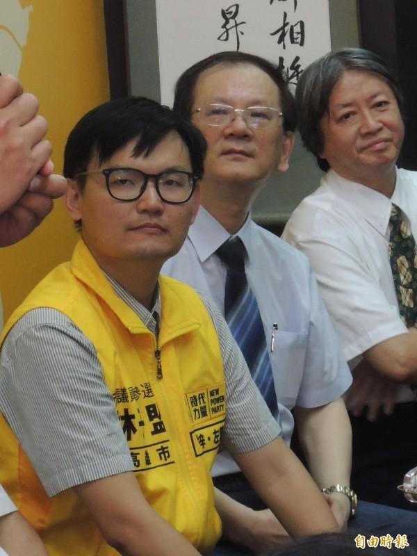 時力高雄左楠區市議員參選人林子盟(記者王榮祥攝)