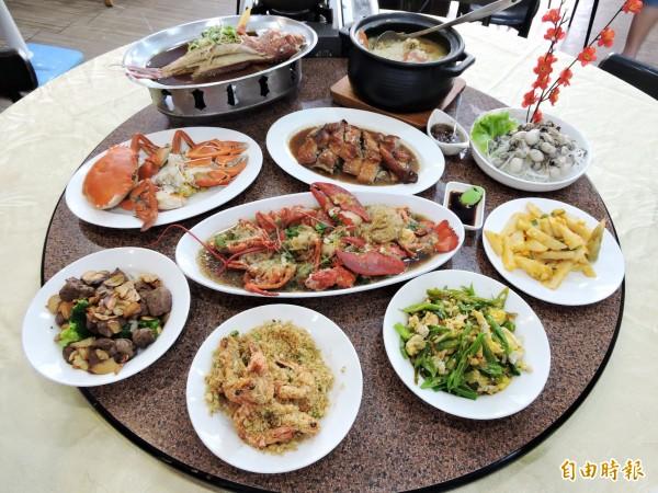 阿祥海鮮餐廳吃得到山珍海味。(記者張菁雅攝)