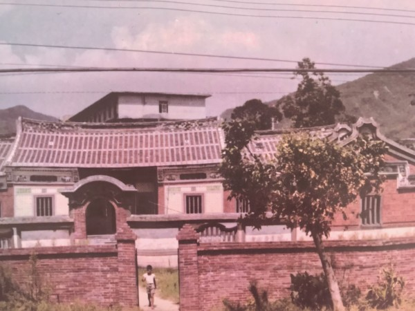 五股守讓堂是單進雙護龍三合院建築。(記者陳心瑜翻攝)