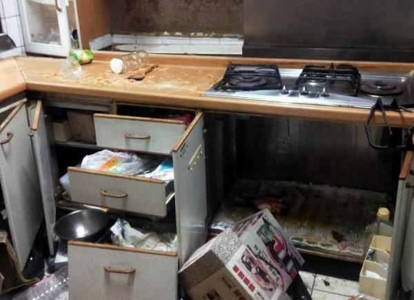 南投縣竹山鎮發生一起民宅火警,造成廚房部分流理台受損。(記者謝介裕翻攝)