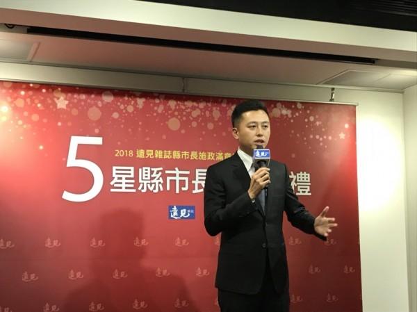 蟬聯五星首長,林智堅希望號召年輕人捲起袖子做事,實踐台灣精神 。(市府提供)