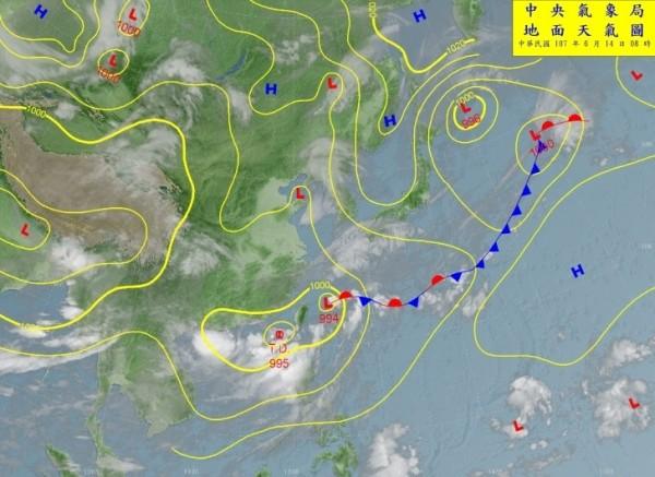 南區氣象中心預報台南地區列豪雨地區。(圖:南區氣象中心提供)