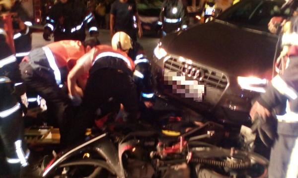 北市晚間發生死亡車禍。(記者陳恩惠翻攝)