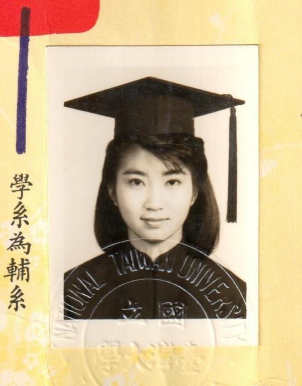 6月是畢業季,周春米也應景放上自己畢業照。(取自周春米臉書)