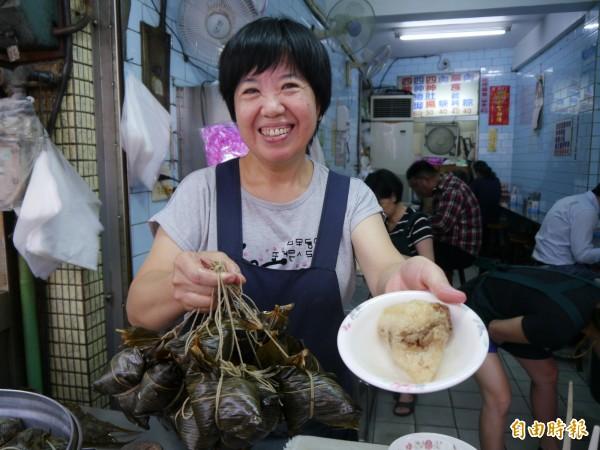 豐原永芳亭肉粽具有80年歷史。(記者張軒哲攝)