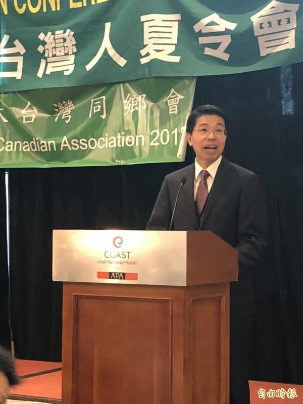 台灣駐加代表陳文儀表示將繼續和加航交涉要求正名。(記者張伶銖攝)