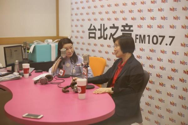 名嘴周玉蔻(左)直接逼問民國黨主席徐欣瑩跟柯文哲之間「怎麼會搞在一起?」(圖由徐欣瑩陣營提供)